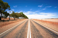 road in dry south Australia