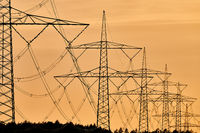 electricity transportation with hgh voltage wire on pylon