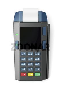 Credit card reader, top view