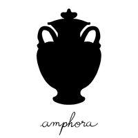 covered amfora silhouette