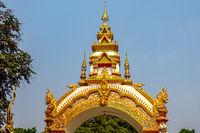 Decoration on the gate of Wat Khu Kum