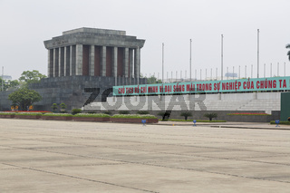 The Ho Chi Minh Mausoleum in Hanoi