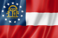 Georgia flag, USA