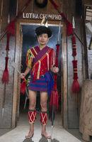 NAGALAND, INDIA, December 2016, Lotha tribal man, Hornbill festival