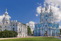 Smolny cathedral - Saint-Petersburg Russia