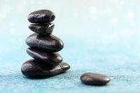 Basalt stones for Spa massage.