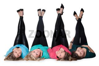 4 pair of legs up