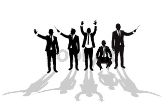 Various business man silhouettes 5