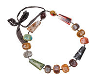 necklace from various ceramic beads isolated