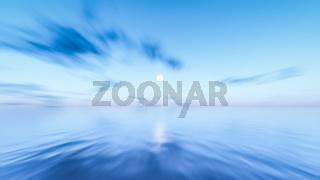 ocean sky long time exposure background