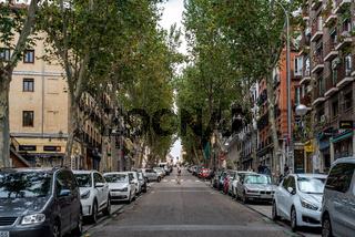 Ribera de Curtidores street in Embajadores quarter in Madrid