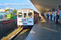 People metro train Kiev Ukraine