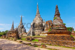 Wat Phra Si Sanphet temple. Phra Nakhon Si Ayutthaya Province, Thailand
