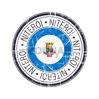City of Niteroi, Brazil vector stamp