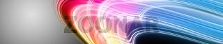 Abstract elegant wave panorama design illustration