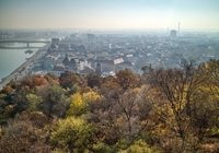 Beautiful landscape above historical part of Budapest, Hungary.