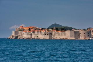 Die historische Altstadt von Dubrovnik an der Küste Dalmatien/Kroatien