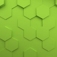 Abstract modern green honeycomb background