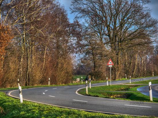 Strasse im Münsterland