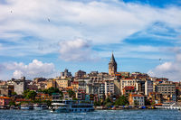 Istanbul City Skyline From Golden Horn