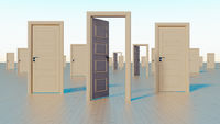 doors to the world of opportunities 3D rendering