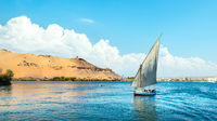 Blue cloudy sky over Nile