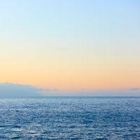 Sea horizon and serene sky