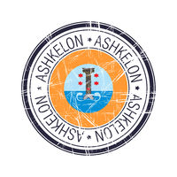 City of Ashkelon, Israel vector stamp