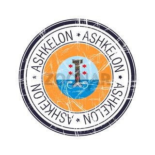 City of Ashkelon, Israel vector stamp