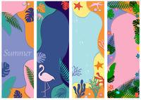 Sammlung von abstrakten Hintergrundentwürfen für Sommerverkauf