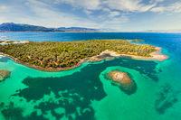 The small island Monolia at Lichadonisia complex in Evia, Greece