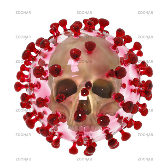 Artistic 3D illustration of the coronavirus sars-cov-2