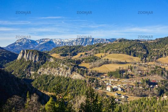 Der beruehmte 20-Schilling-Blick, Wiener Alpen, Österreich