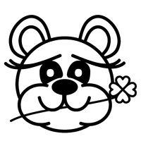 Lustiger Bär - mit Kleeblatt - Viel Glück!en zu