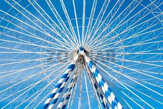 Detail of a ferris wheel