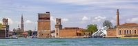 Entrance Arsenale in Venice, Italy