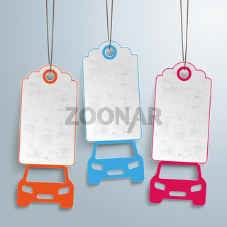3 Cars Price Stickers