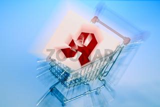 Einkaufswagen mit Apotheken Logo