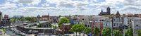 Stadt Stralsund vom alten Hafen aus gesehen