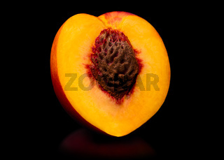 Fresh peach isolated on white