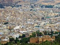 View over the Fez Medina in Morocco