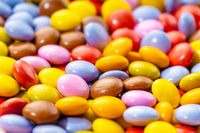 Multicolored Chocolate candy background