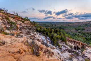 beautiful sunset in Madagascar countryside