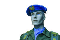 United Nation Soldier Uniform Isolated Model