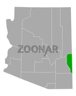 Karte von Greenlee in Arizona - Map of Greenlee in Arizona
