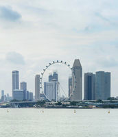 Singapore Flyer, Downtown skyline