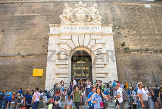Mass-tourism at Vatican Museum in Rome