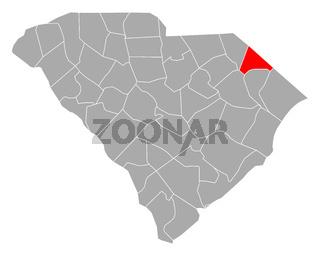 Karte von Dillon in South Carolina - Map of Dillon in South Carolina