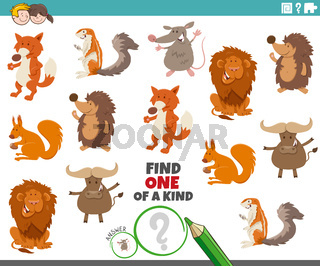 one of a kind game with animal characters