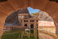 Galta Ji Complex in Jaipur, India, also known as Monkey Temple